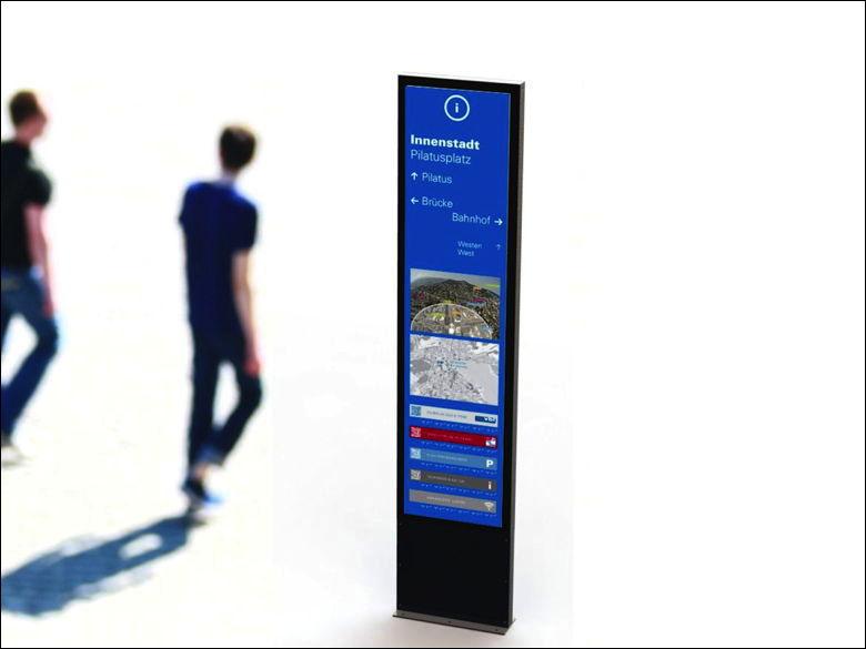 Designstudie Fußgängerleitsystem Luzern von MAAS+CO und LED Werkstatt.