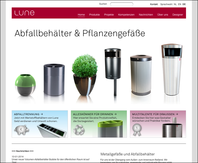 Lune Raummobiliar Website