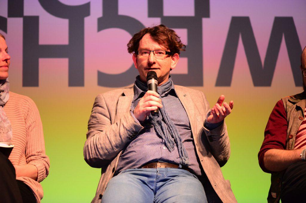 Torsten Stapelkamp, Kooperationspartner von MAAS+CO spricht auf der re:publica 2016 über die zunehmende Bedeutung von Design für Innovation.